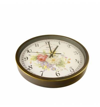 Ceas rama bronz cu flori