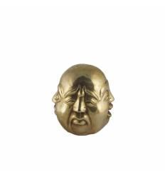 Figurina cap Buddha 4 fete bronz mare
