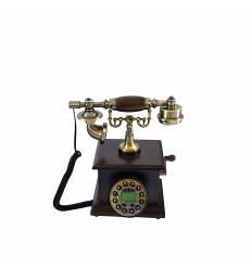 Telefon manivela lemn