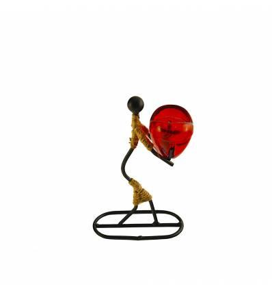 Sfesnic fata metal, sfoara si sticla rosie