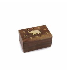 Caseta lemn mica elefant gauri mici