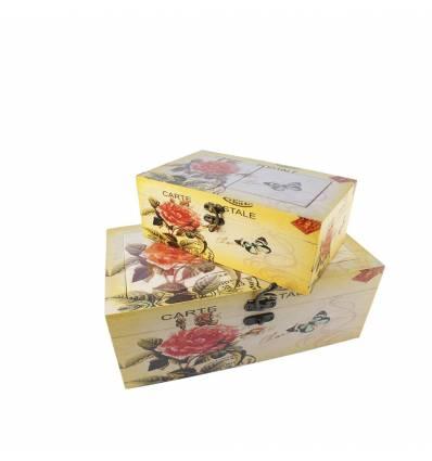 Set 2 cutii dreptunghiulare ceramica