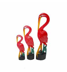 Set 3 pasari  flamingo clasic 50 cm