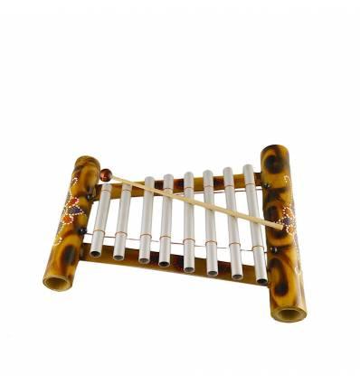 Xilofon gambang bambus 8 tuburi aluminiu - pictat
