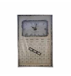 Ceas metal cu calendar, mare