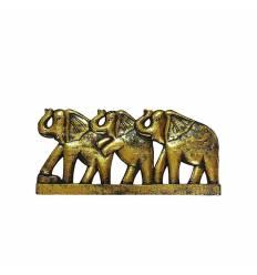 Tablou 3 elefanti in linie 50cm