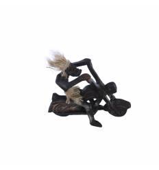 Figurina primitiv motociclist