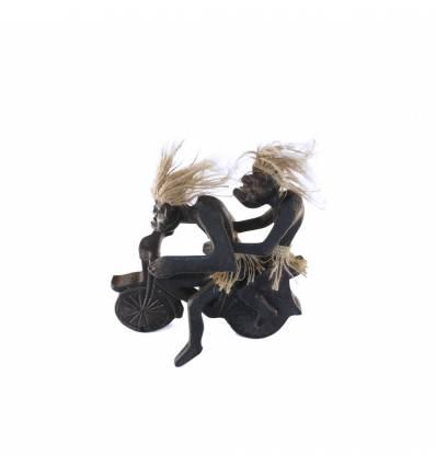 Figurina  primitivi motociclisti 2 persoane
