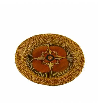 Farfurie ratan cu mahon rotunda 23cm
