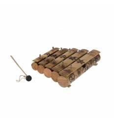Xilofon gambang 5 tuburi bambus cu bat