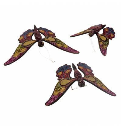 Set 3 fluturi pictati