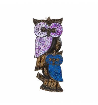 Masca bufnita cu pui mozaic 50 cm