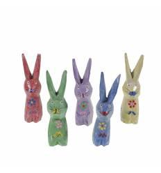 Set 5 iepuri lemn