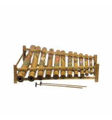 Xilofon gambang 11 tuburi bambus