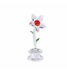 Cristal floare mare ghiveci pe suport