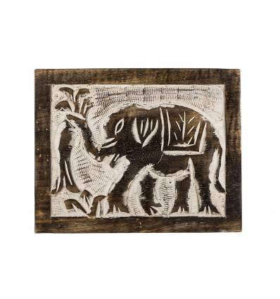 Cutie elefant lemn ars