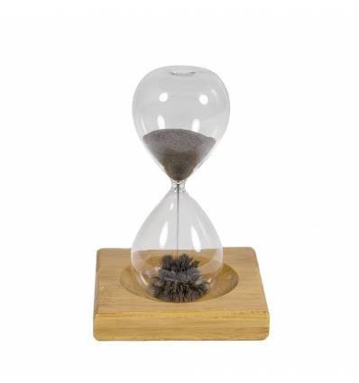 Clepsidra sticla cu metal mica