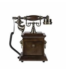 Telefon ornamnetal lemn cu disc