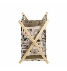 Set 3 suport ziare lemn pinza D