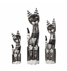 Set 3 pisici cu sticla 50 cm A