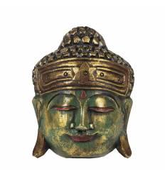 Masca cap Buddha rotund 3 culori 20 cm A