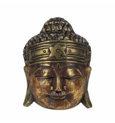 Masca cap Buddha rotund 3 culori 20 cm B