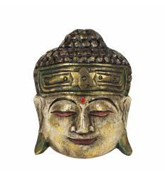 Masca cap Buddha rotund 3 culori 20 cm C