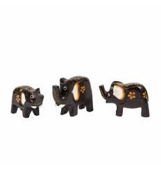 Set 3 elefanti maro