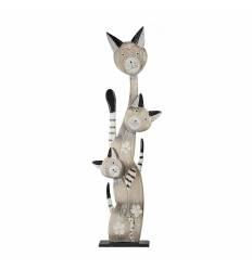 Statueta 3 pisici pe postament 100 cm B