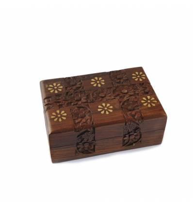 Caseta lemn rosu medie