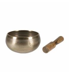 """Bol tibetan bronz negru / auriu 5"""" B"""