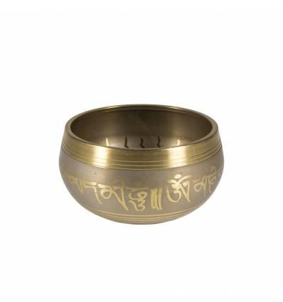 """Bol tibetan bronz negru / auriu 3.5"""" C"""