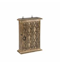 Cutie lemn pentru chei cu pasare / romb A