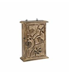 Cutie lemn pentru chei cu pasare / romb B