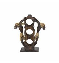 Suport lemn pentru 3 sticle 2 primitivi