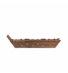 Cutie lunga barca lemn rosu bete