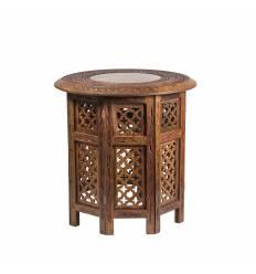 Masa lemn rosu octogonala medie